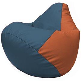 Кресло-мешок Груша Г2.3-0323 синий, оранжевый