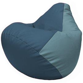 Кресло-мешок Груша Г2.3-0336 синий, голубой