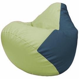 Кресло-мешок Груша Г2.3-0403 светло-салатовый, синий