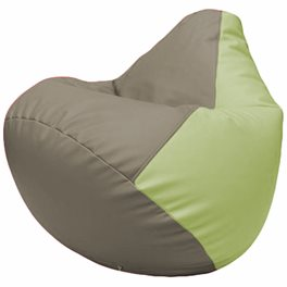 Кресло-мешок Груша Г2.3-0404 светло-серый, светло-салатовый
