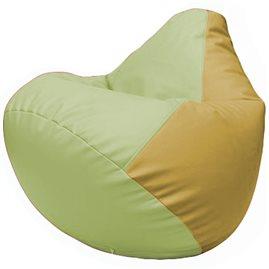 Кресло-мешок Груша Г2.3-0408 светло-салатовый, охра
