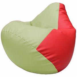 Кресло-мешок Груша Г2.3-0409 светло-салатовый, красный