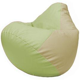 Кресло-мешок Груша Г2.3-0410 светло-салатовый, светло-бежевый