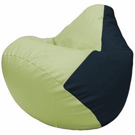 Кресло-мешок Груша Г2.3-0415 светло-салатовый, синий