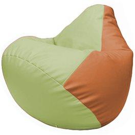 Кресло-мешок Груша Г2.3-0420 светло-салатовый, оранжевый