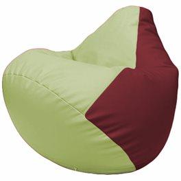 Кресло-мешок Груша Г2.3-0421 светло-салатовый, бордовый