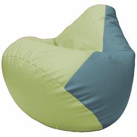 Кресло-мешок Груша Г2.3-0436 светло-салатовый, голубой