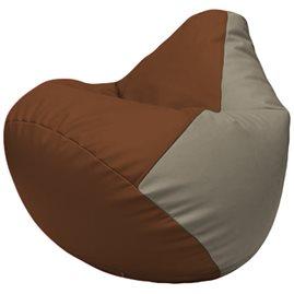 Кресло-мешок Груша Г2.3-0702 коричневый, светло-серый