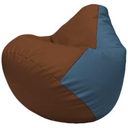 Кресло-мешок Груша Г2.3-0703 коричневый, синий