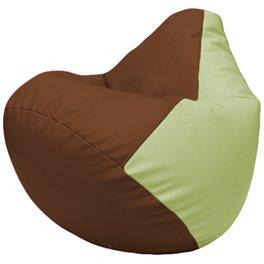 Кресло-мешок Груша Г2.3-0704 коричневый, светло-салатовый