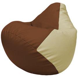 Кресло-мешок Груша Г2.3-0710 коричневый, светло-бежевый