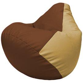 Кресло-мешок Груша Г2.3-0713 коричневый, бежевый