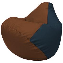 Кресло-мешок Груша Г2.3-0715 коричневый, синий
