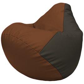 Кресло-мешок Груша Г2.3-0716 коричневый, чёрный