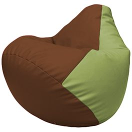 Кресло-мешок Груша Г2.3-0719 коричневый, оливковый