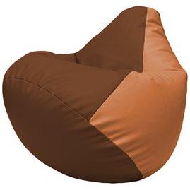 Кресло-мешок Груша Г2.3-0720 коричневый, оранжевый