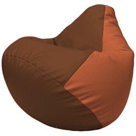 Кресло-мешок Груша Г2.3-0723 коричневый, оранжевый