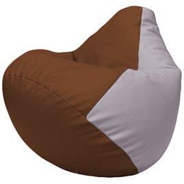 Кресло-мешок Груша Г2.3-0725 коричневый, сиреневый