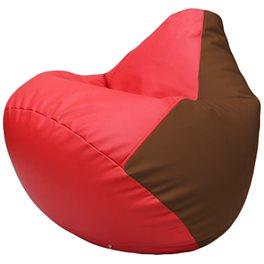 Кресло-мешок Груша Г2.3-0907 красный, коричневый