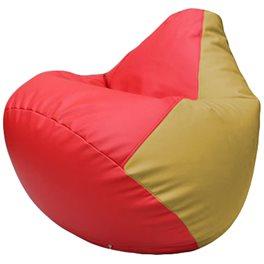 Кресло-мешок Груша Г2.3-0908 красный, охра