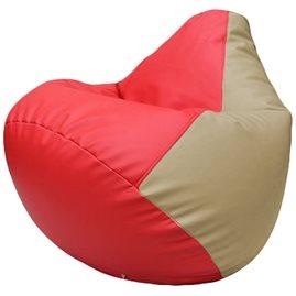 Кресло-мешок Груша Г2.3-0912 красный, бежевый