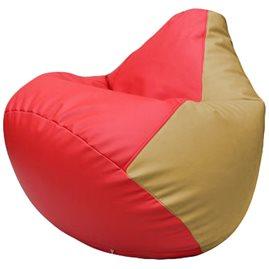 Кресло-мешок Груша Г2.3-0913 красный, бежевый