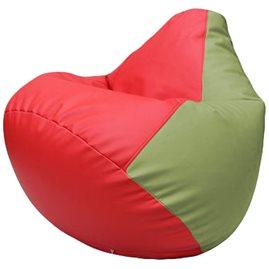 Кресло-мешок Груша Г2.3-0919 красный, оливковый