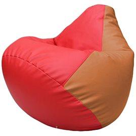 Кресло-мешок Груша Г2.3-0920 красный оранжевый