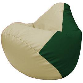 Кресло-мешок Груша Г2.3-1001 светло-бежевый, зелёный
