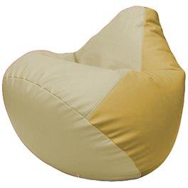 Кресло-мешок Груша Г2.3-1008 светло-бежевый, охра