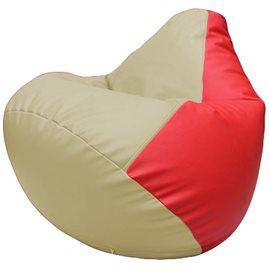 Кресло-мешок Груша Г2.3-1009 светло-бежевый, красный