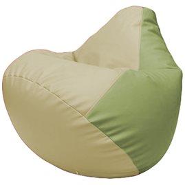 Кресло-мешок Груша Г2.3-1019 светло-бежевый, оливковый