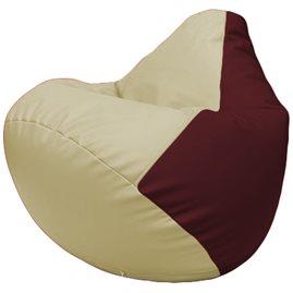 Кресло-мешок Груша Г2.3-1032 светло-бежевый, бордовый