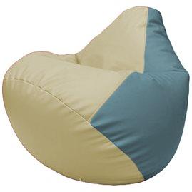 Кресло-мешок Груша Г2.3-1036 светло-бежевый, голубой