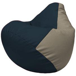 Кресло-мешок Груша Г2.3-1502 синий, светло-серый