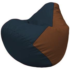Кресло-мешок Груша Г2.3-1507 синий, коричневый