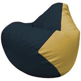 Кресло-мешок Груша Г2.3-1508 синий, охра