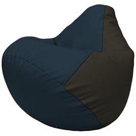 Кресло-мешок Груша Г2.3-1516 синий, чёрный