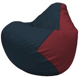 Кресло-мешок Груша Г2.3-1521 синий, бордовый