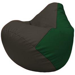 Кресло-мешок Груша Г2.3-1601 чёрный, зелёный