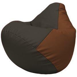 Кресло-мешок Груша Г2.3-1607 чёрный, коричневый