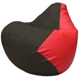 Кресло-мешок Груша Г2.3-1609 чёрный, красный