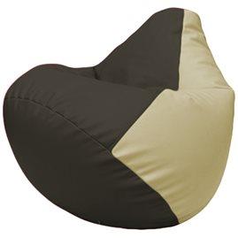 Кресло-мешок Груша Г2.3-1610 чёрный, светло-бежевый