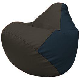 Кресло-мешок Груша Г2.3-1615 чёрный, синий