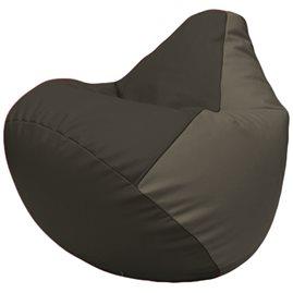 Кресло-мешок Груша Г2.3-1617 чёрный, серый