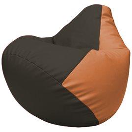 Кресло-мешок Груша Г2.3-1620 чёрный, оранжевый