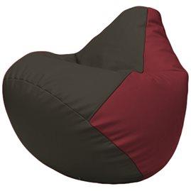 Кресло-мешок Груша Г2.3-1621 чёрный, бордовый