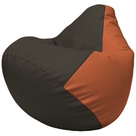 Кресло-мешок Груша Г2.3-1623 чёрный, оранжевый