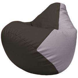 Кресло-мешок Груша Г2.3-1625 чёрный, сиреневый