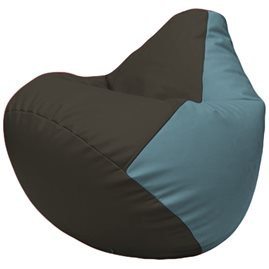 Кресло-мешок Груша Г2.3-1636 чёрный, голубой